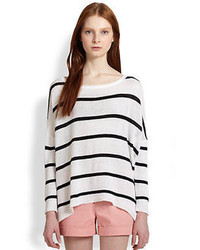 Alice + Olivia Striped Dolman Sleeved Boxy Sweater