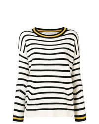 Ermanno Scervino Striped Dropped Shoulder Sweater