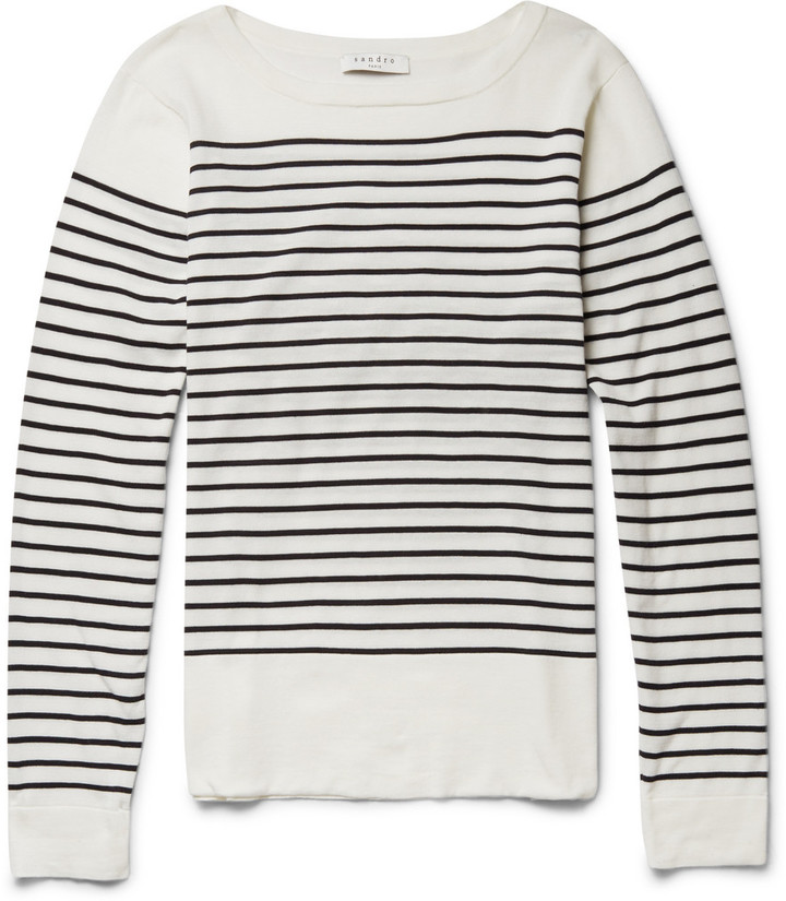 Sandro Striped Fine Knit Cotton Sweater | Where to buy & how to wear