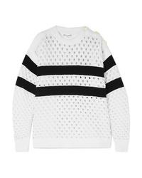 Sonia Rykiel Striped Open Knit Sweater