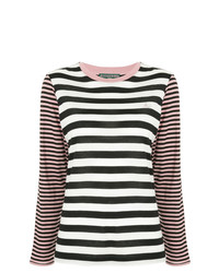Alexa Chung Striped Pattern Loose Sweater