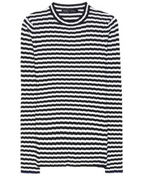 Proenza Schouler Striped Silk And Cashmere Sweater