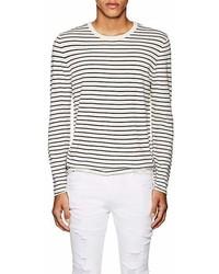 ATM Anthony Thomas Melillo Striped Silk Blend Slim Sweater