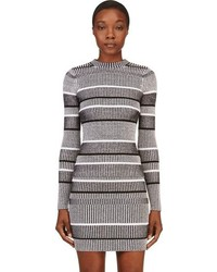 Alexander Wang T By Black Ribbed Striped Sweater