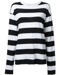 The Elder Statesman Striped Loose Fit Sweater