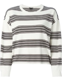 Theory Prosecco Striped Sweater