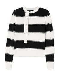 Marc Jacobs Tie Detailed Striped Wool Sweater