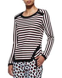 Vince Veronica Beard Stripe Knit Long Sleeve Pullover