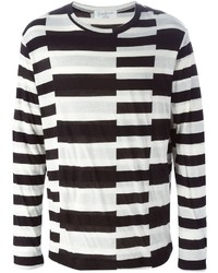 Yohji Yamamoto Fine Knit Striped Sweater
