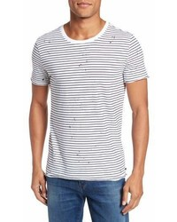 Ag julian slim fit stripe raw t shirt medium 6982669