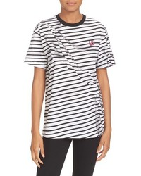 Alexander ueen swallow classic stripe cotton tee medium 1159315