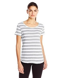 Andrew Marc Marc New York Performance Short Sleeve Stripe Tee Shirt