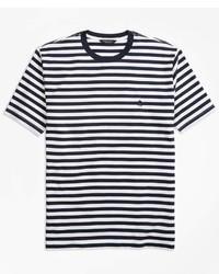 Brooks Brothers Bar Stripe Supima Cotton T Shirt