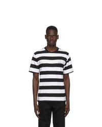 Études Black And White Striped Wonder T Shirt