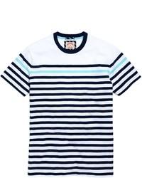 Brooks Brothers Multi Stripe Tee Shirt