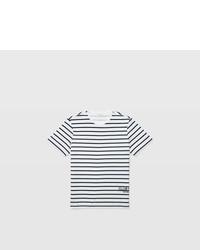 Club Monaco Cm Graphic Striped Tee