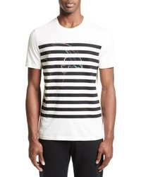 Versace Collection Hologram Stripe T Shirt