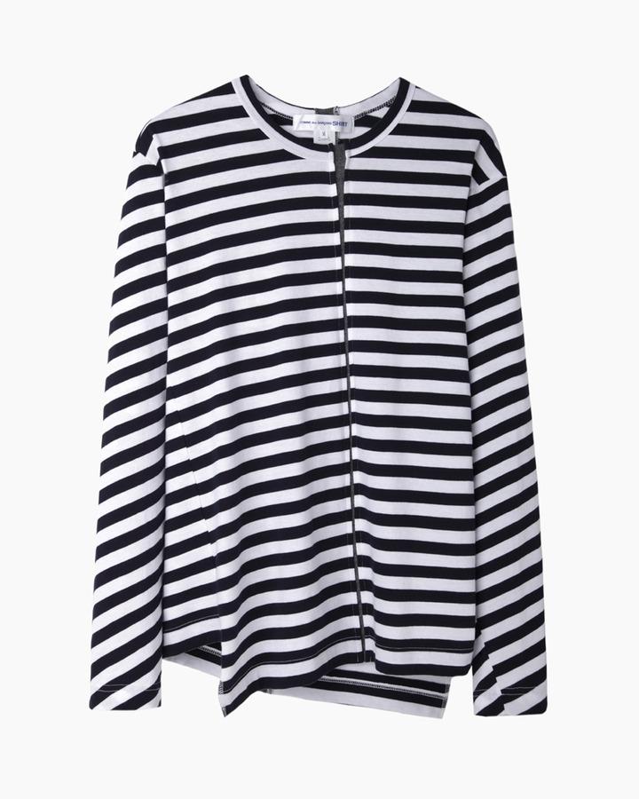 3c90b86c009b Comme des Garcons Comme Des Garons Shirt Man Asymmetrical Stripe Longsleeve T  Shirt .