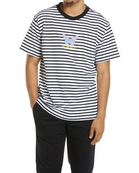 Obey Embroidered Stripe T Shirt