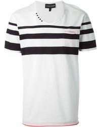 Emporio Armani Stripe Detail T Shirt