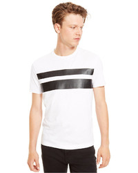 Kenneth Cole Reaction Faux Leather Striped T Shirt