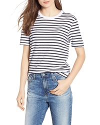 AG Gray Boy Stripe Tee