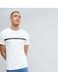 Selected Homme Tall T Shirt With Stripe And Pocket Detail