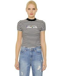 SteveJ & YoniP Joyful Striped Techno Jersey T Shirt