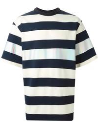 Juunj Wide Stripes Metallic T Shirt