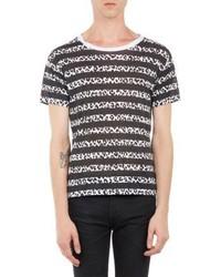 Saint Laurent Leopard Stripe T Shirt