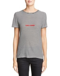 Saint Laurent Logo Stripe Tee