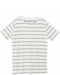 Mango Man Mango Man Striped Cotton T Shirt