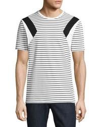 Modernist stripe jersey t shirt whiteblack medium 3664523