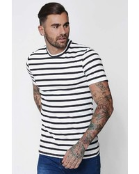 Boohoo Muscle Fit Stripe T Shirt