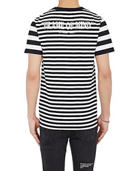 da4c361d ... Off White Co Virgil Abloh Xo Barneys New York Frame Of Mind Striped  Cotton T Shirt ...