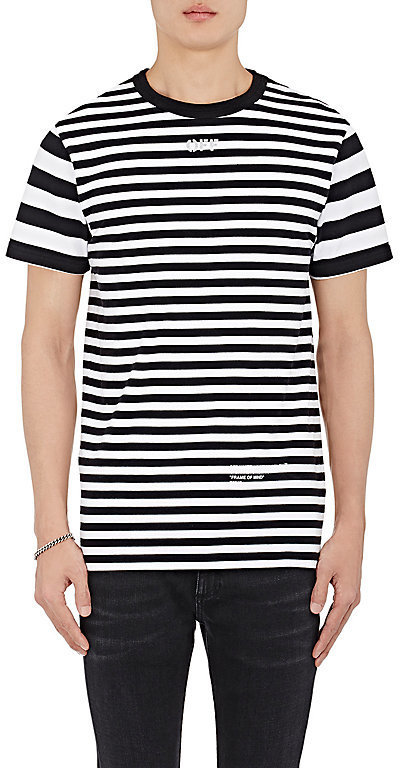 21dbb4b4e4fa ... Off White Co Virgil Abloh Xo Barneys New York Frame Of Mind Striped  Cotton T Shirt ...