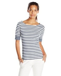 Pendleton Roll Sleeve Striped Tee