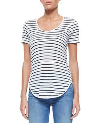 Rag and Bone Rag Bonejean The Aria Short Sleeve Striped Tee