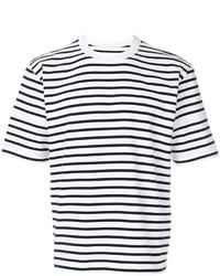 Sacai Short Sleeve Striped T Shirt