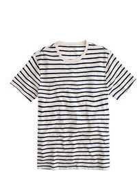 Slub cotton deck striped t shirt medium 5308