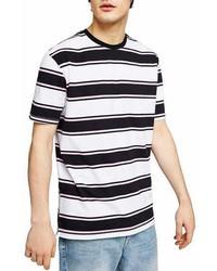 Topman Stripe Crewneck T Shirt