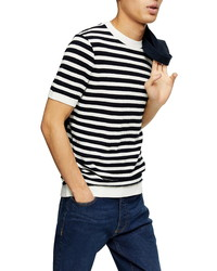 Topman Stripe Knit T Shirt