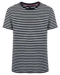Tommy Hilfiger Stripe Print Crew Neck T Shirt
