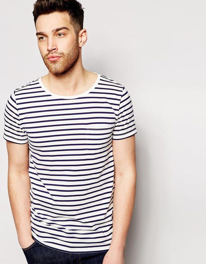 ... Esprit Stripe T Shirt With Pocket ...