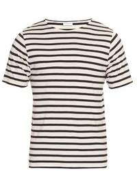 Saint Laurent Striped Cotton Jersey T Shirt