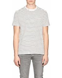 Barneys New York Striped Cotton Jersey T Shirt