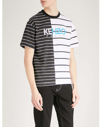 Kenzo Striped Cotton Jersey T Shirt