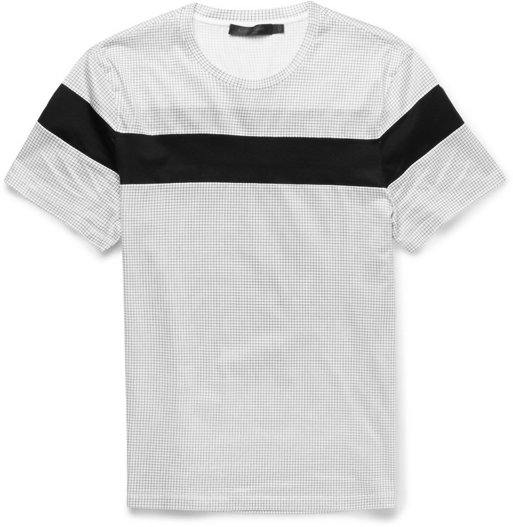 db8d0a3158ad Calvin Klein Collection Striped Cotton Jersey T Shirt, $325 | MR ...