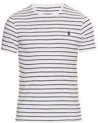 31572a21 Men's White and Black Crew-neck T-shirts by Polo Ralph Lauren ...