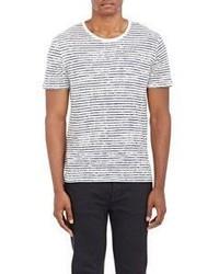 ATM Anthony Thomas Melillo Striped Jersey T Shirt Black